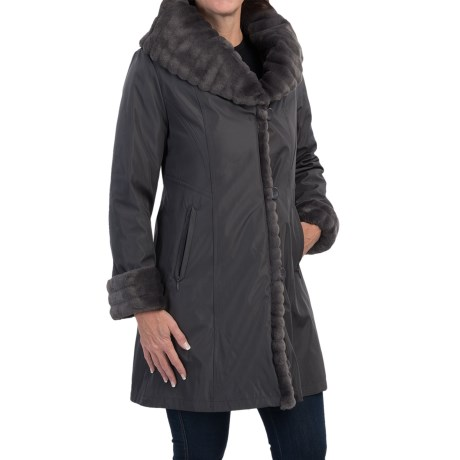 1 Madison Faux Fur Storm Coat For Women