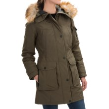 1 Madison Hooded Parka - Faux Fur (For Women) in Moss - Closeouts