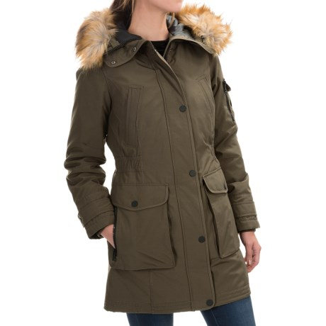 1 Madison Hooded Parka Faux Fur For Women