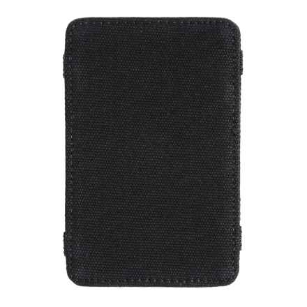 1 Voice Scholar RFID-Blocking Canvas Magic Card Holder and Wallet in Black - Closeouts