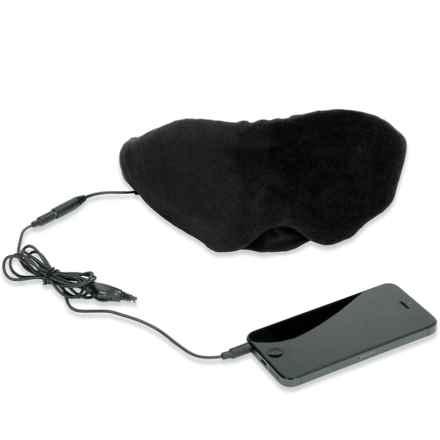 1 Voice Sleep Headphones Eye Mask in Black - Closeouts
