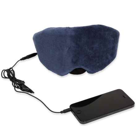 1 Voice Sleep Headphones Eye Mask in Blue - Closeouts