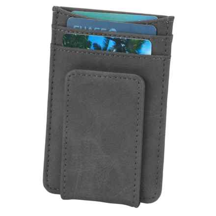 1 Voice Striker RFID-Blocking Card Holder and Magnetic Money Clip - Leather in Grey - Closeouts