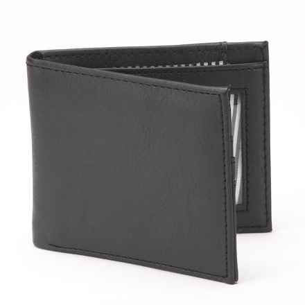 1 Voice Vault RFID Bi-Fold Wallet - Leather in Black - Closeouts