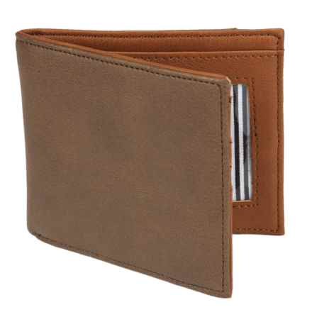 1 Voice Vault RFID Bi-Fold Wallet - Leather in Dark Brown - Closeouts