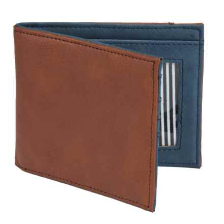 1 Voice Vault RFID Bi-Fold Wallet - Leather in Light Brown - Closeouts