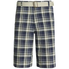 10,000 Feet Above Sea Level Plaid Shorts (For Men) in Navy/Tan/Green - Closeouts