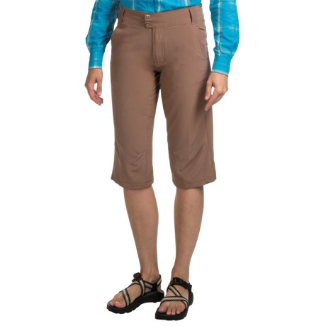 10,000 Feet Above Sea Level Stretch Capris (For Women) in Brown
