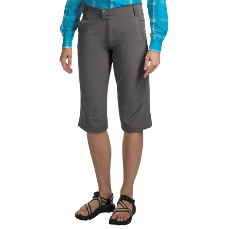 10,000 Feet Above Sea Level Stretch Capris (For Women) in Charcoal