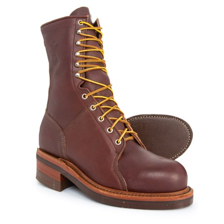 Image of 10? EH Logger Work Boots - Leather, Steel Toe, Factory 2nds (For Men)