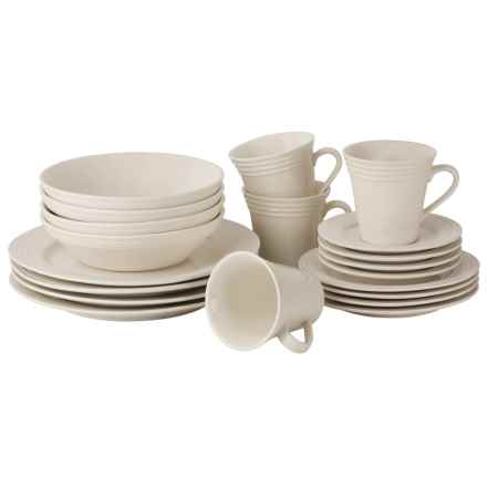 10 Strawberry Street Atlas Round Dinnerware Set - 20-Piece in White - Closeouts