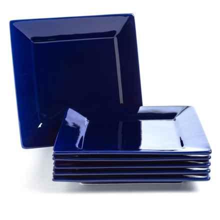 "10 Strawberry Street Nova Square Dinner Plates - 10"", Set of 6, Porcelain in Cobalt - Closeouts"