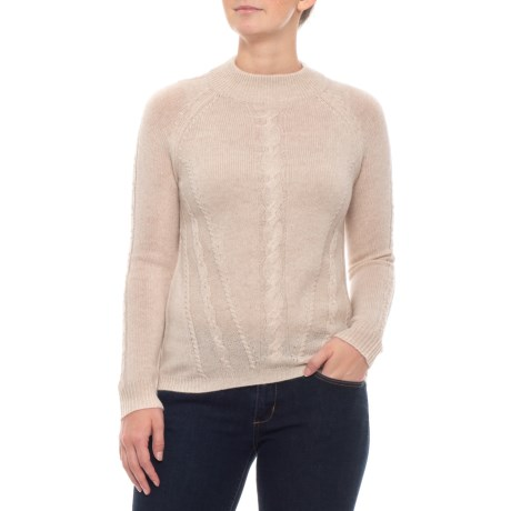 Image of 100% Cashmere Mock Neck Sweater (For Women)