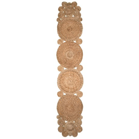 Image of 100% Jute Large Circular Table Runner - 1?4?x6?8?