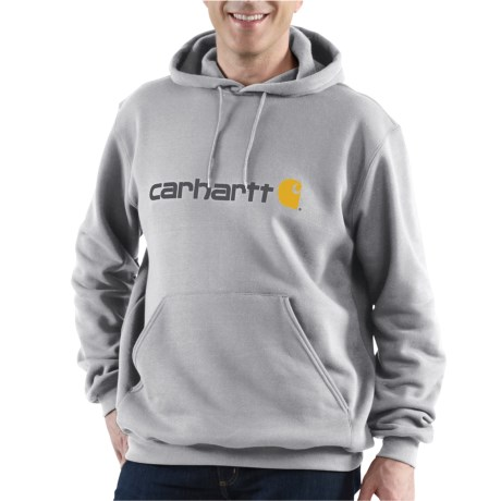 100074 Signature Logo Hoodie - Factory Seconds (For Men) - HEATHER GREY (M )