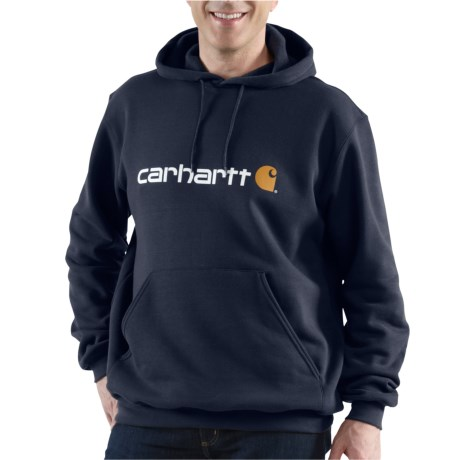 100074 Signature Logo Hoodie - Factory Seconds (For Men) - NEW NAVY (M )