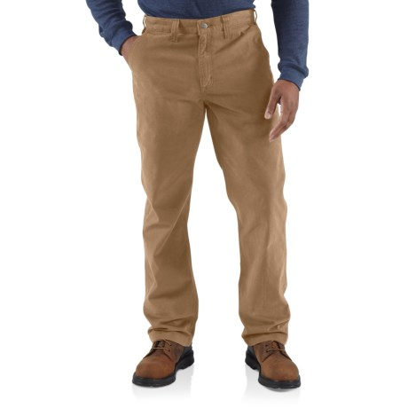 Image of 100095 Rugged Work Khaki Pants - Relaxed Fit, Factory Seconds (For Men) - DARK KHAKI ( )