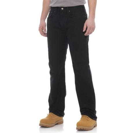 100096 Weathered Duck 5-Pocket Pants (For Men) - BLACK ( )