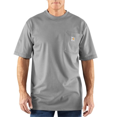 100234 Flame-Resistant Force(R) Cotton T-Shirt - Short Sleeve, Factory Seconds (For Big and Tall Men) - LIGHT GRAY (3XL )