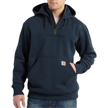 100617 Rain Defender(R) Paxton Hoodie - Zip Neck, Factory Seconds (For Big and Tall Men) - NEW NAVY (3XL )