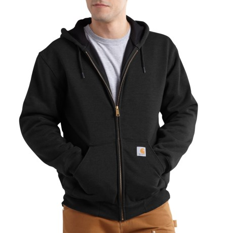100632 Rain Defender(R) Rutland Thermal-Lined Hoodie - Full Zip, Factory Seconds (For Big and Tall Men) - BLACK (4XL ) thumbnail