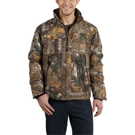 101444 Quick Duck(R) Rain Defender(R) Camo Traditional Jacket - Insulated (For Men) - REALTREE XTRA (M ) thumbnail