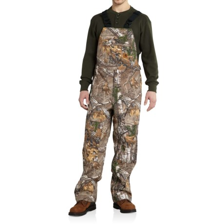 101498 Camo Shoreline Bib Overalls - Factory Seconds (For Men) - REALTREE XTRA (L ) thumbnail