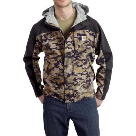 101570 Shoreline Vapor Jacket - Waterproof, Factory 2nds (For Big and Tall Men) - BLACK/DARK KHAKI DIGI CAMO (3XL ) thumbnail