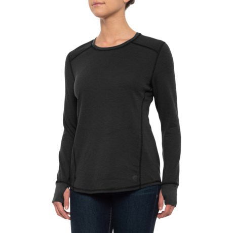 101713 Base Force(R) Cold-Weather Shirt - Crew Neck, Long Sleeve (For Women) - BLACK (2XL ) thumbnail
