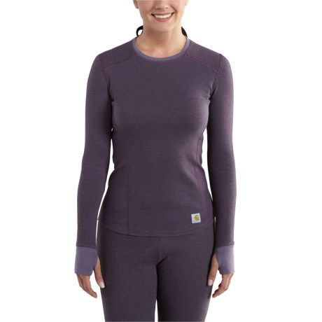 101713 Base Force(R) Cold-Weather Shirt - Crew Neck, Long Sleeve (For Women) - PLUM (XL ) thumbnail