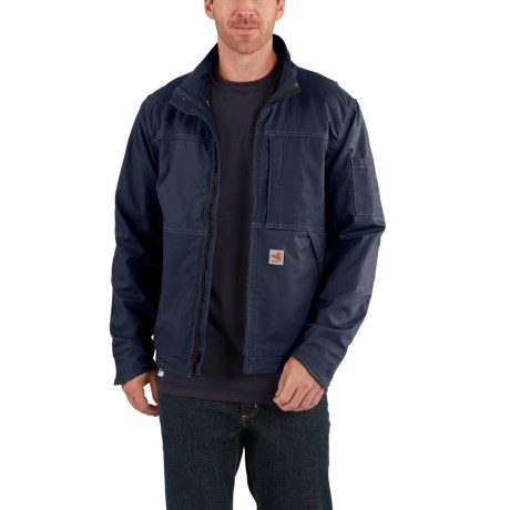 102179 Flame-Resistant Full Swing(R) Quick Duck(R) Jacket (For Men) - DARK NAVY (2XL )