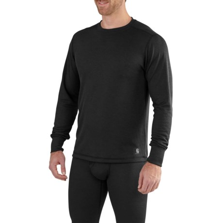 102347T Base Force(R) Extremes Base Layer Top - Crew Neck, Long Sleeve (For Big and Tall Men) - BLACK (L ) thumbnail