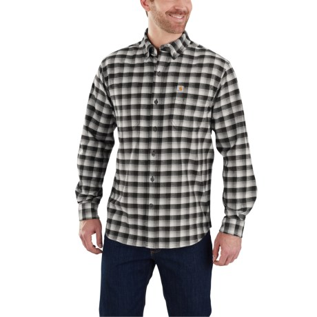103314 Rugged Flex(R) Hamilton Plaid Shirt - Long Sleeve (For Men) - BLACK (L )