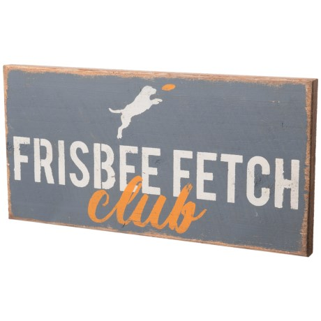 Image of 10x20? Frisbee Fetch Club Wood Wall Art
