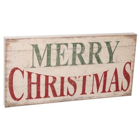 Image of 12x24? Merry Christmas Rustic Wall Art