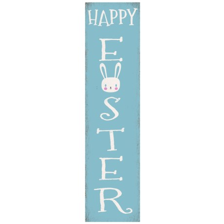 Image of 12x48? P BLU Happy Easter Flat Wall Art