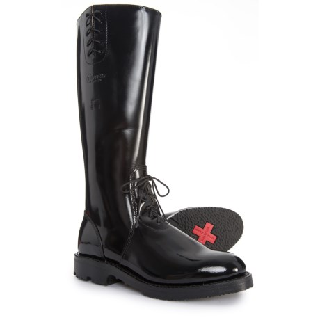 Image of 17? Baden Trooper Black Polish Boots - Leather, Factory 2nds (For Men)
