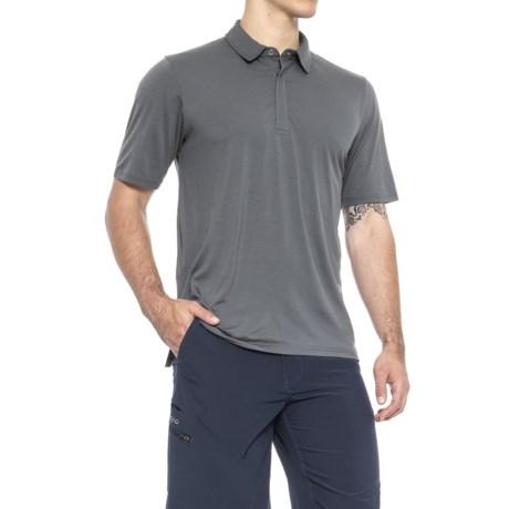 Image of 17.5 Polo Shirt - Merino Wool, Zip Neck, Short Sleeve (For Men)