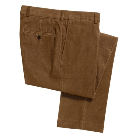 18-Wale Corduroy Pants (For Men) in Umber