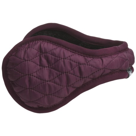 180s Keystone Ear Warmers - Insulated, Faux-Fur Lining (For Women) in Grape Wine