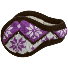 180s Park City Ear Warmers - Nordic Knit, Insulated (For Women) in Java - Closeouts