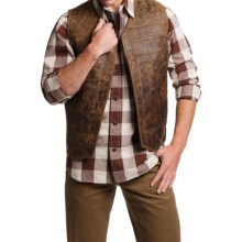 1816 by Remington Double Derringer Vest - Leather (For Men) in Brown - Closeouts