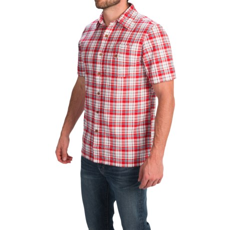 1816 by Remington Madras Camp Shirt Trim Fit, Short Sleeve (For Men)