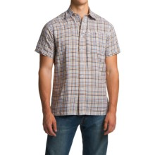 1816 by Remington Peter's Shirt - Short Sleeve (For Men) in Brown Check - Closeouts