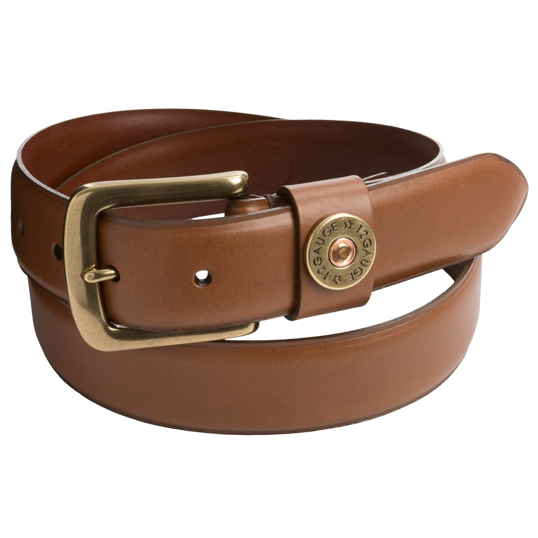 1816 by remington shotgun shell leather belt for