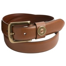 1816 by Remington Shotgun Shell Leather Belt (For Men) in Tan - Closeouts