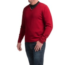 1816 by Remington Spring Creek Sweater - Merino Wool, V-Neck (For Men) in Red - Closeouts