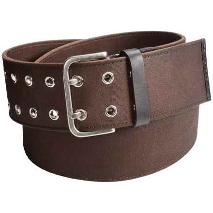 1816 by Remington Upland Belt - Canvas-Leather (For Men) in Dark Oak - Closeouts