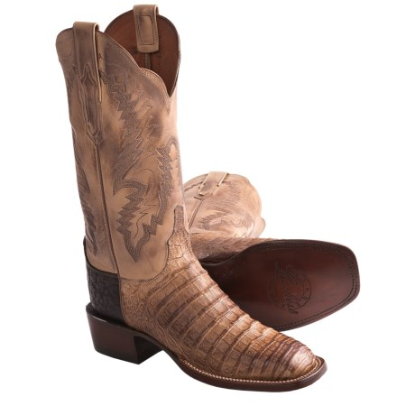 1883 by Lucchese Caiman Cowboy Boots - W-Toe (For Women) in Old Nugget