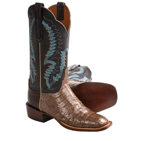 1883 by Lucchese Caiman Cowboy Boots - W-Toe (For Women) in Quartz